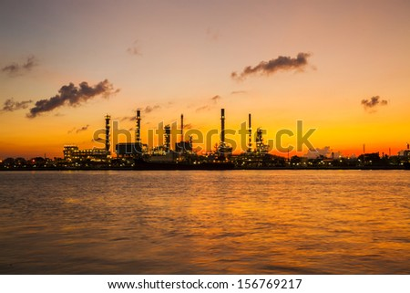 Refinery in Thailand. - stock photo