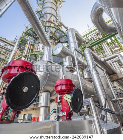 Refinery industrial factory - stock photo