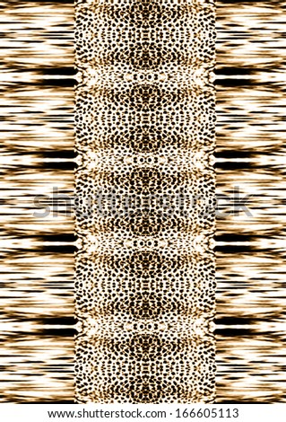 Reflected leopard skin texture - stock photo