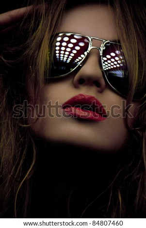 Reflected Shades - stock photo