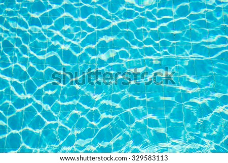 Reflection sunlight in swimming pool - stock photo