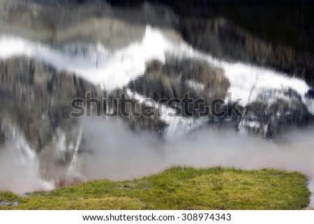 Reflections in Lake Tramail de Vieille - Valtournenche - Aosta Valley - stock photo