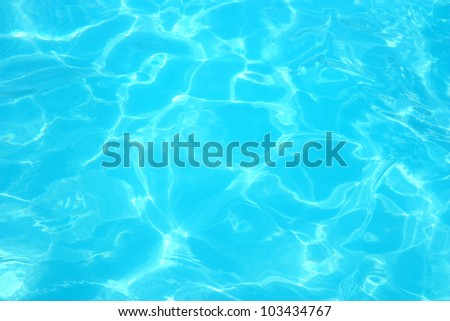 Reflections on a surface of a water in a pool - stock photo