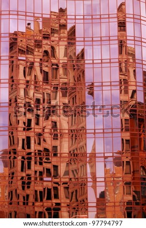 reflective building - stock photo