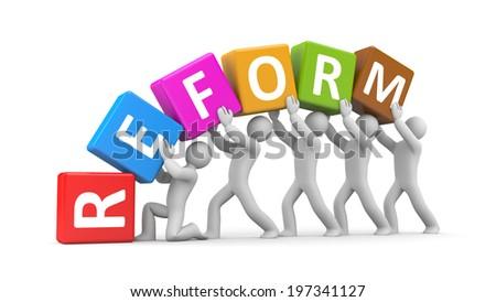 Reform - stock photo