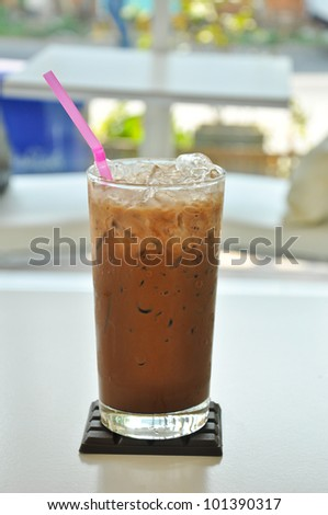 Refreshing coffee - stock photo