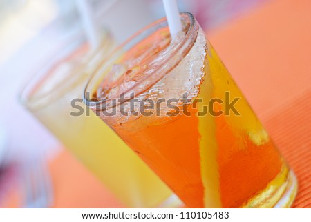 Refreshing Cold Juice Drinks - stock photo