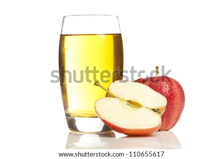 Refreshing Organic Apple Juice on a background - stock photo