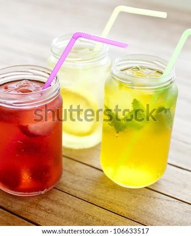 refreshing summer drinks - stock photo