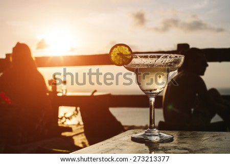 Refreshment, Cocktail - stock photo