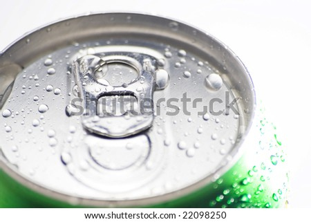 refreshment soda diet cold drink isolated over white - stock photo