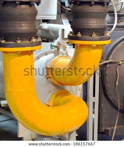 Refrigeration compressors, chiller - stock photo