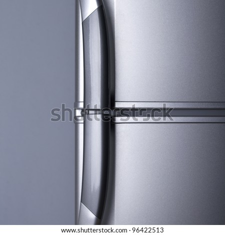 Refrigerator door - close up - stock photo