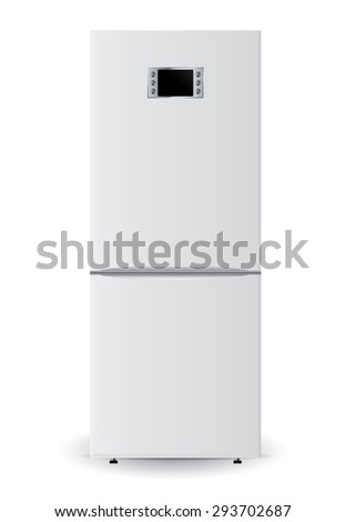 Refrigerator. Illustration isolated on white background. Raster version - stock photo