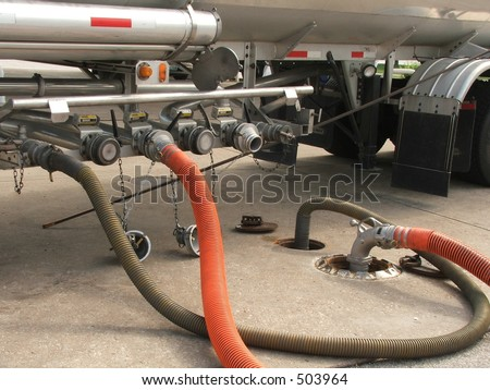 refueling gas station - stock photo