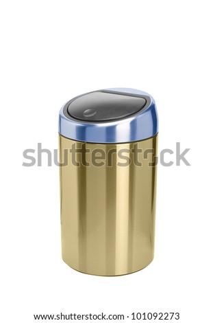Refuse bin isolated on white background - stock photo