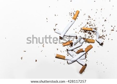 refusing cigarettes , Concept for stop smoking cigarette and healthy lifestyle - stock photo