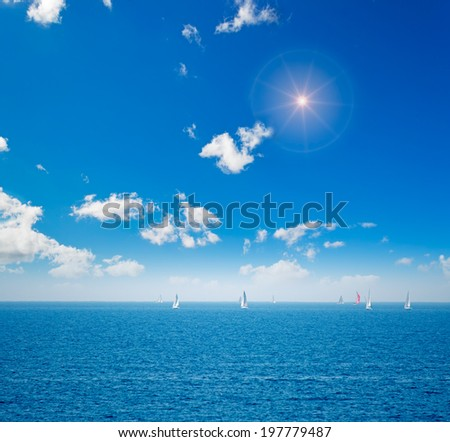 regatta on a cloudy day - stock photo