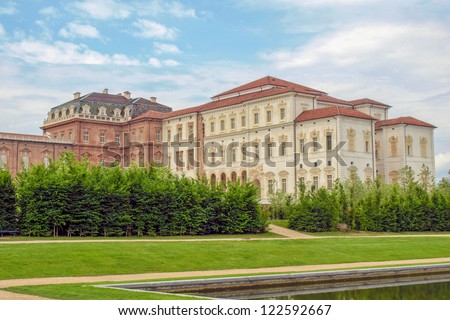 Reggia di Venaria Reale (Royal Palace) near Turin, Italy - stock photo