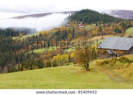 region of Jotunhejme National Park, Norway - stock photo
