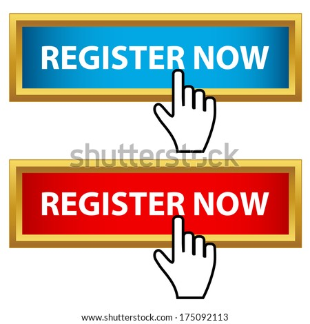 Register now button set - stock photo