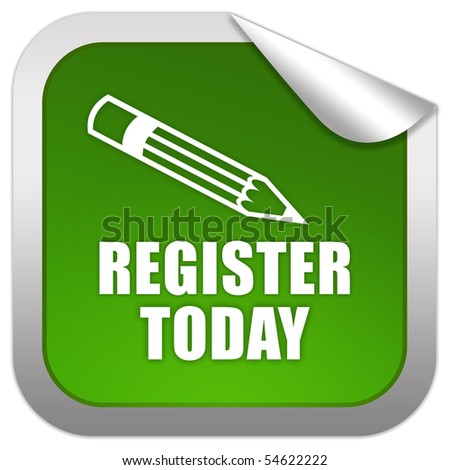 Register today - stock photo