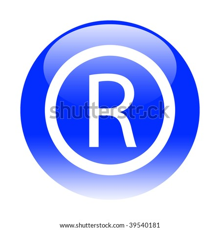 registered button - stock photo