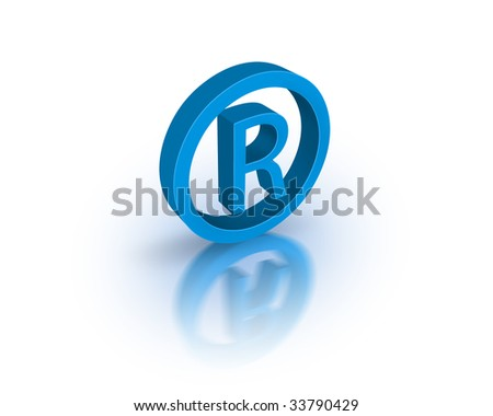 Registered trademark symbol - stock photo