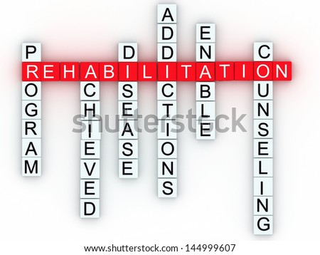 Rehabilitation medical message concept. - stock photo