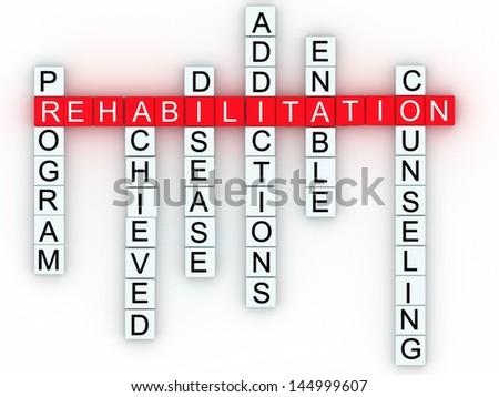 Rehabilitation medical message concept. - stock photo