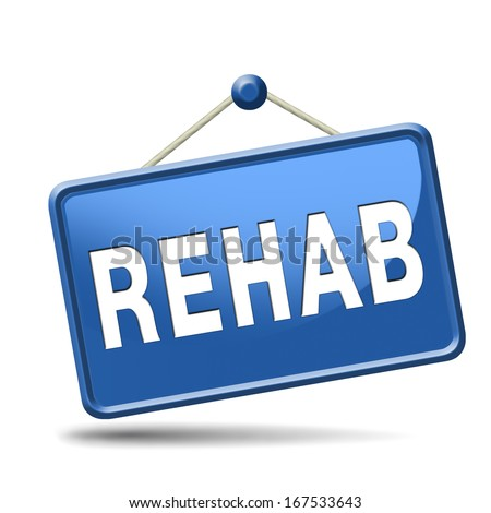 rehabilitation rehab for drugs alcohol or sport and accident injury physical or mental therapy - stock photo