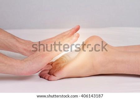 Reiki healing treatment , alternative  medicine concept. - stock photo