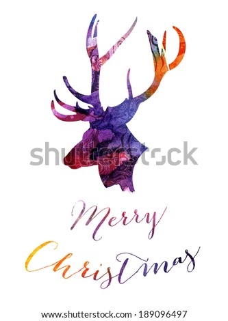 Reindeer Christmas design - stock photo