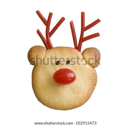 Reindeer cookie - stock photo