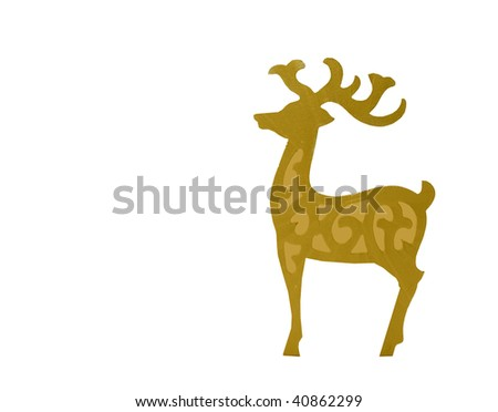 Reindeer with space for text - stock photo