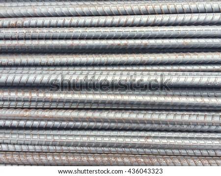 Reinforcement bars - stock photo