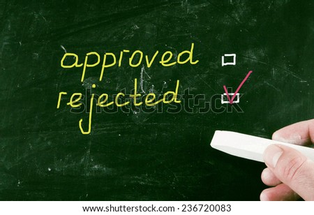 rejected concept - stock photo
