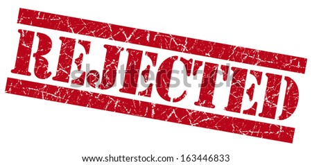 Rejected grunge red stamp - stock photo