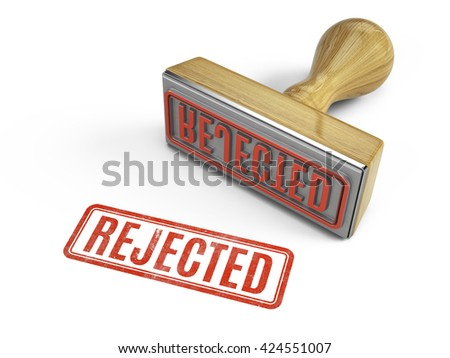 Rejected stamp isolated on white. 3d render - stock photo