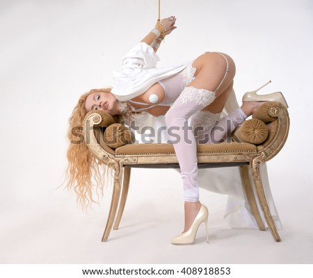 Related girl enjoys - stock photo