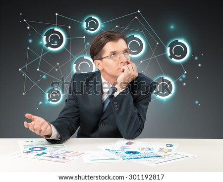 Relationship, media, business. - stock photo