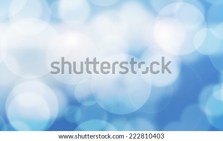 Relax blue bokeh background with little light - stock photo