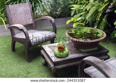 Relax corner on the loft - stock photo