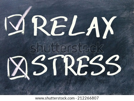 relax or stress choice  - stock photo