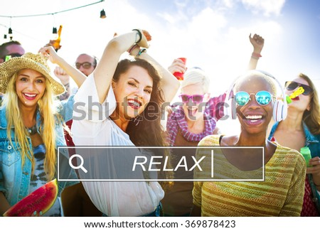 Relax Relaxation Leisure Free Carefree Resting Peace Concept - stock photo