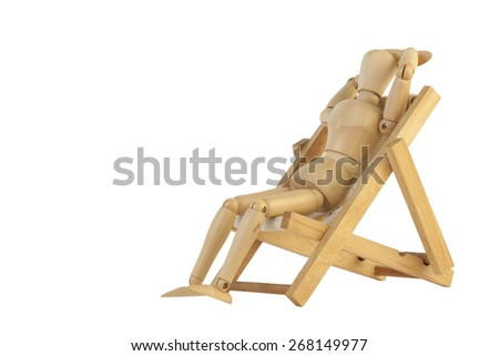 Relax with bench - stock photo