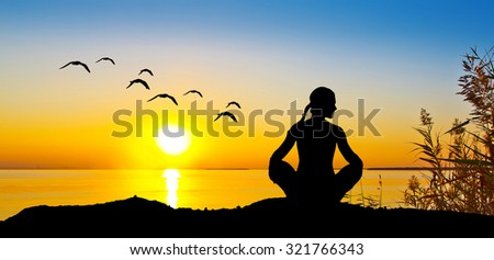 relaxation in the sea - stock photo