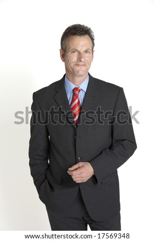 relaxed portrait of senior businessman - stock photo