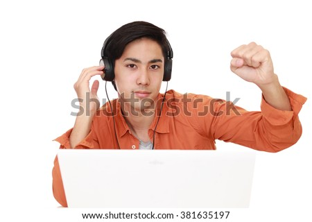 Relaxed young man. - stock photo