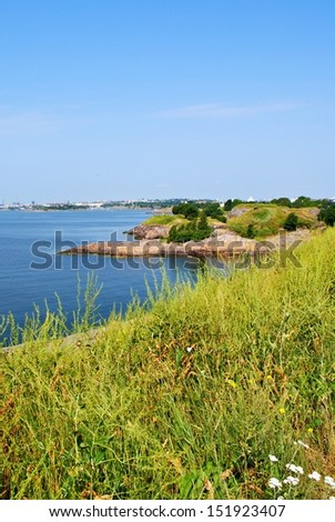 Relaxing finnish landscape - stock photo